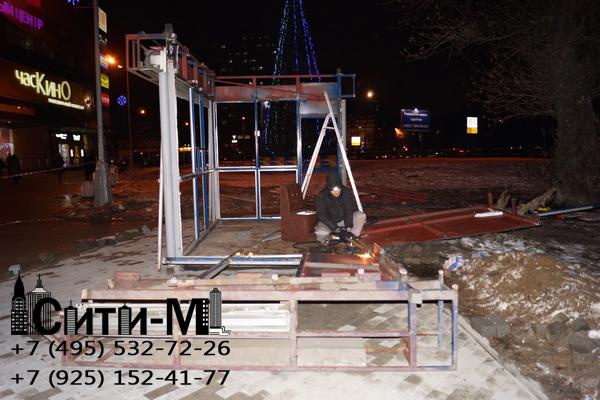 демонтаж павильонов в Москве