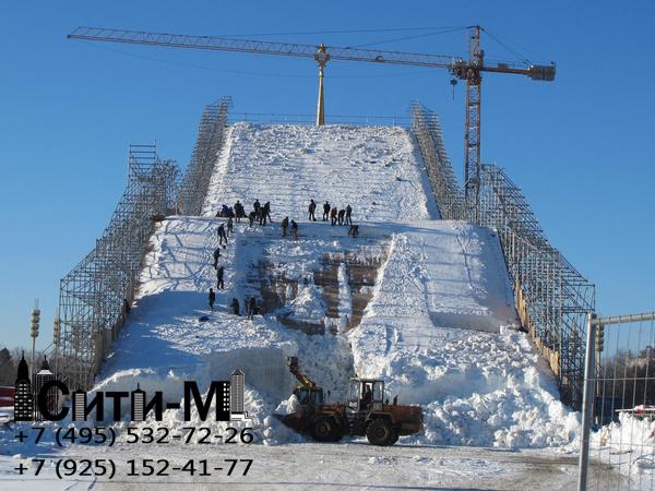 чистка территории от снега