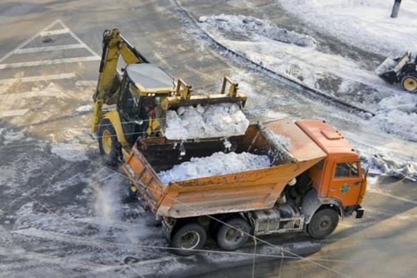 вывоз снега с территорий в Москве