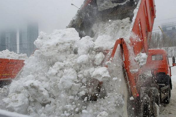 услуги по вывозу снега из Москвы