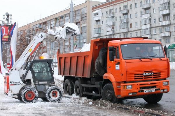 вывоз снега с территорий