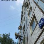 Мытье фасада многоэтажки