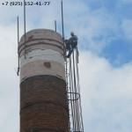 ремонт кирпичного оголовка дымовой трубы