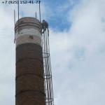 ремонтируем оголовок дымовой трубы из кирпича
